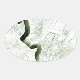 Río de mármol pegatina ovalada