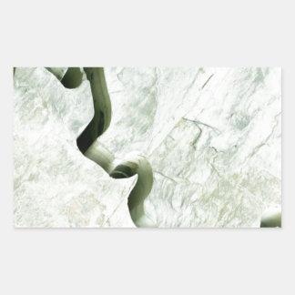 Río de mármol pegatina rectangular