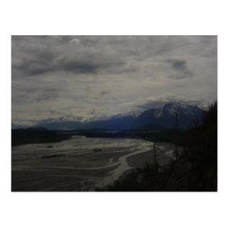 Río de Matanuska y pico del pionero Postal