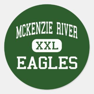 Río de McKenzie - Eagles - alto - roca Oregon del Etiqueta Redonda