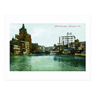 Río de Milwaukee, Milwaukee, Wisconsin Tarjetas Postales