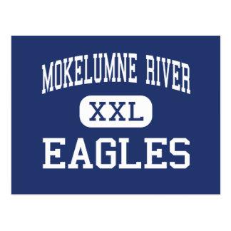 Río de Mokelumne - Eagles - alto - Lodi California Postales