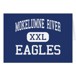 Río de Mokelumne - Eagles - alto - Lodi California Felicitaciones
