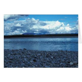 Río de Noatak sobre el río de Kelley Tarjeta De Felicitación