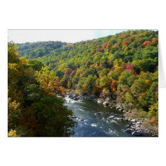 Río de Ohiopyle en otoño de la caída II Tarjeta De Felicitación