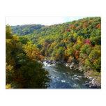 Río de Ohiopyle en postal de la caída