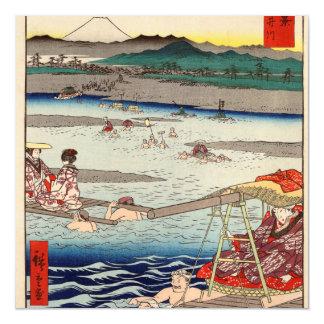 Río de Ōi entre Suruga y las provincias de Tōtōmi Invitaciones Magnéticas