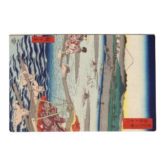 Río de Ōi entre Suruga y las provincias de Tōtōmi Tapete Individual