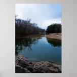 Río de Paluxy en el poster del valle del dinosauri