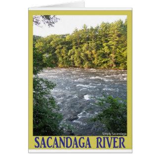 Río de Sacandaga Tarjeta De Felicitación