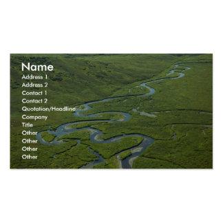 Río de serpenteo tarjeta de negocio