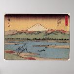 Río de Tama en la provincia de Musashi por Hiroshi Impresiones