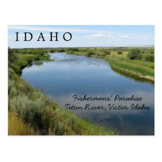 Río de Teton Idaho PC del paraíso de los pescado Postales
