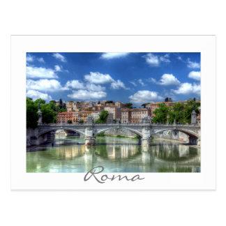 Río de Tíber en Roma, Italia Tarjetas Postales