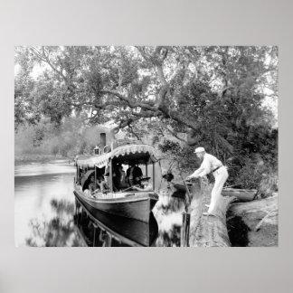 Río de Tomoka la Florida 1880 Impresiones