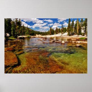 Río de Tuolumne, prados de Tuolumne, Yosemite. Póster