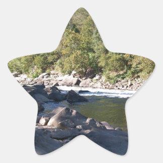 Río de Virginia Occidental Pegatina En Forma De Estrella