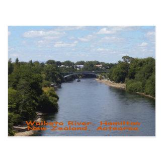 Río de Waikato, Hamilton Tarjeta Postal