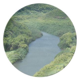 Río de Wailua - Kauai, Hawaii Platos De Comidas
