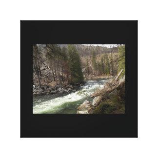 Río de Wenatchee cerca de Leavenworth Impresiones De Lienzo
