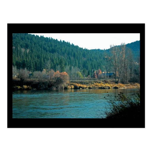 Río de Wenatchee, mini impresión de Leavenworth WA Postales