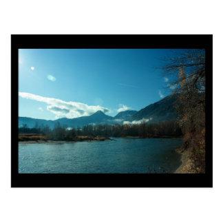 Río de Wenatchee mini impresión de Leavenworth WA Tarjeta Postal