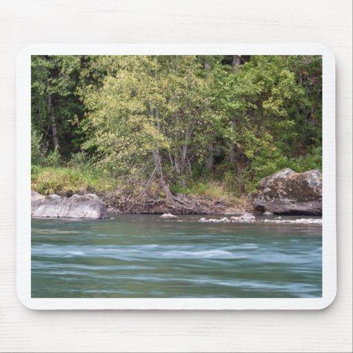 Río de Willamette en el camping negro del barranco Alfombrillas De Ratón