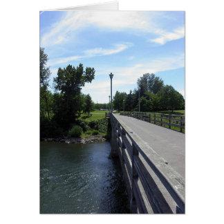 Río de Willamette Tarjeta De Felicitación