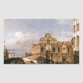 Rio dei Mendicanti and the Scuola di San Marco Rectangular Sticker