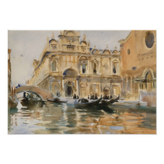 Rio dei Mendicanti, Venice by John Singer Sargent Poster