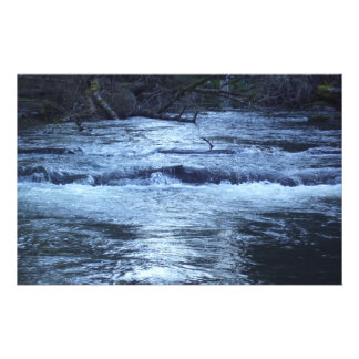 Río del azul de la noche personalized stationery