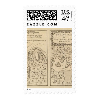 Río del esfuerzo, bahía de la botánica sello postal
