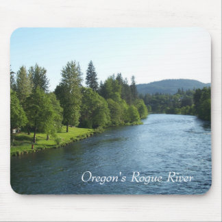 Río del granuja de Oregon Tapetes De Ratones