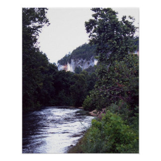 Río del nacional del búfalo póster