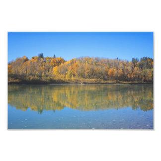 Río del norte de Saskatchewan - otoño Impresión Fotográfica