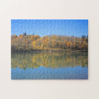 Río del norte de Saskatchewan - otoño Puzzles Con Fotos