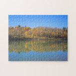 Río del norte de Saskatchewan - otoño Rompecabeza