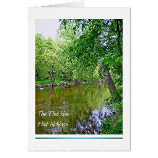 Río del pedernal, pedernal Michigan Tarjeta Pequeña