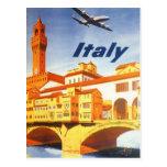 Río del puente de Florencia Firenze Italia del Tarjeta Postal