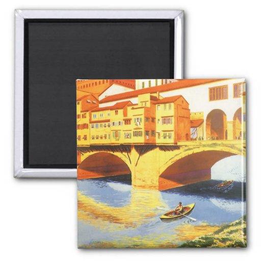 Río del puente de Florencia Firenze Italia del via Imanes De Nevera
