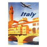 Río del puente de Florencia Firenze Italia del via Invitacion Personal