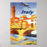 Río del puente de Florencia Firenze Italia del via Impresiones