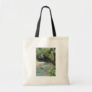 Río del remache escénico bolsas lienzo