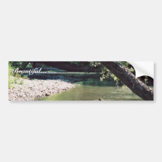 Río del remache escénico etiqueta de parachoque