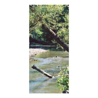 Río del remache escénico tarjeta publicitaria