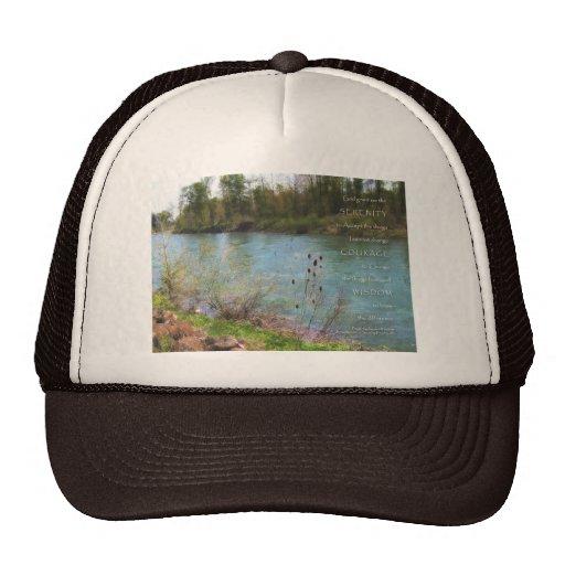 Río del rezo de la serenidad gorras