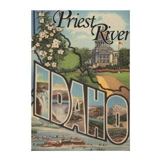 Río del sacerdote, Idaho - escenas grandes de la l Lona Estirada Galerias