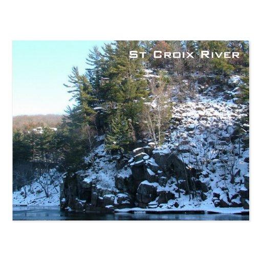 Río del St Croix Tarjetas Postales