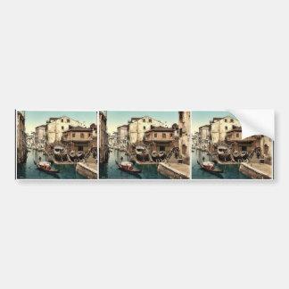 Rio della Botisella, Venice, Italy classic Photoch Car Bumper Sticker