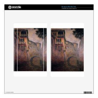 Rio della Salute 02 by Claude Monet Kindle Fire Skin